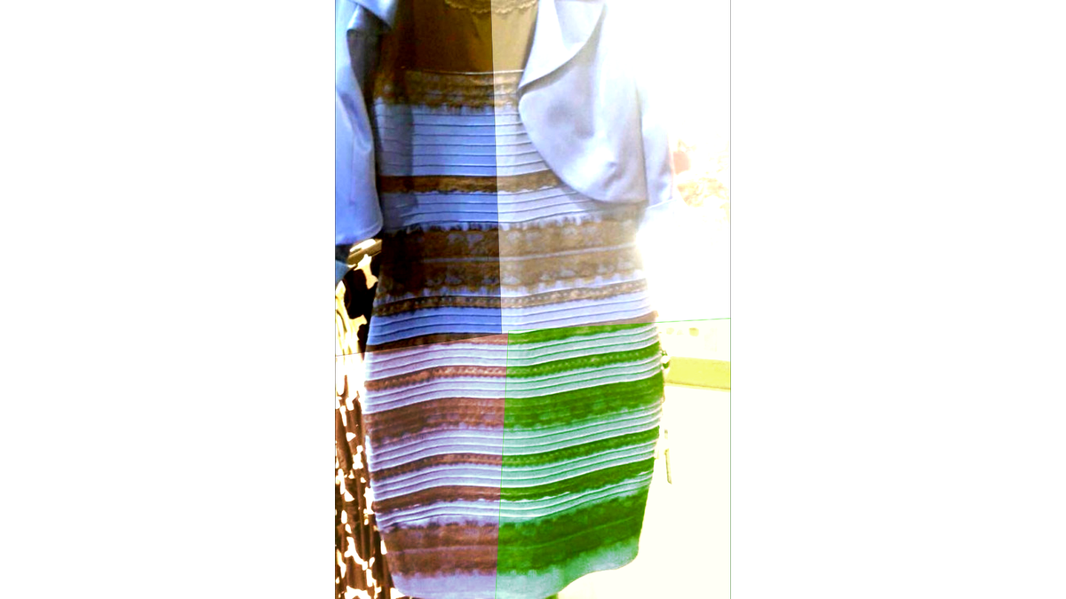 THE DRESS WILL NOT BE CONFINED TO ONE IDENTITY. IT IDENTIFIES WITH MULTIPLE COLORS. #DressRights http://t.co/rCiRiDsJjD