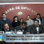 Presentan un proyecto de ley para que el tratamiento contra el cáncer sea gratuito http://t.co/bqgID38qGe http://t.co/RZUU8s53gx