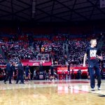 Looks like @TheMUSS is filling in nicely and rocking their black tonight! #goutes #GameDayU http://t.co/2V5e4esBe2