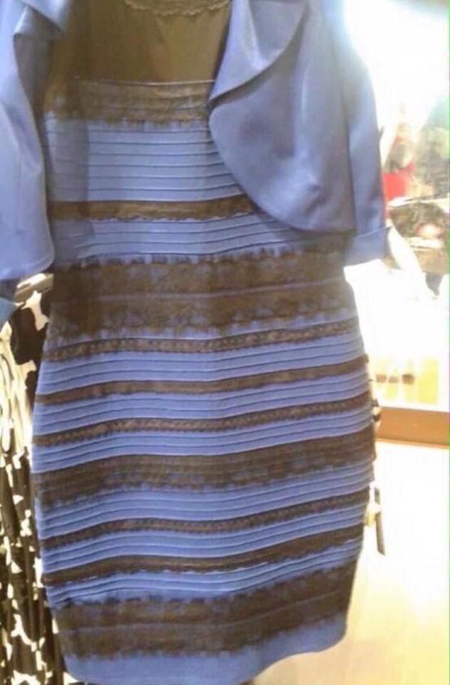 There's two different pictures of #TheDress. GET OVER IT! #whiteandgold #blackandblue http://t.co/rQsiv2IPAD