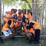He Toki ki te Rika students building the taiapa (fence) at the North Hagley Park Te Matatini venue. #TeMatatini2015 http://t.co/C5IUkeXRCE