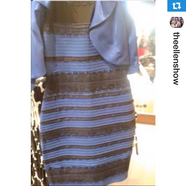 白xゴールド? ブルーxブラック!? 人によって色が違って見えるらしいドレス