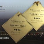 Cheltenham Gold Cup is 2 weeks today! One person who RTs & follows will get their hands on these 2 golden tickets! http://t.co/dPTCgZY435