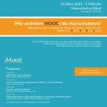 """Unser @onlinebynature  bei RT @iMooXst: Einladung zum #iMoox -Symposium """"Wie verändern MOOCs die Hochschullehre?""""  http://t.co/kY3ZsHNhJF"""
