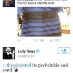 @ladygaga si sabe que color es el vestido! Bingo!! http://t.co/iFCVOLWwnT