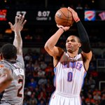 Russell Westbrook playing at another level right now. He gets triple-double in back-to-back games. http://t.co/5ZCTSWsmpJ