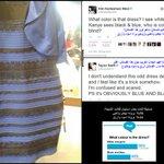 فتاة من سكوتلاند نشرت صورة فستان احدث جدل كبير على الإنترنت بسبب لونه  بعض البشر يرونه ابيض وذهبي والآخر اسود وازرق http://t.co/HyE2cXtnZD
