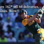 AB de Villiers smashes unbeaten 162 off 66 balls for Proteas against West Indies #WorldCup http://t.co/hjUpyLoraA http://t.co/XIqiHqBixN