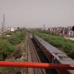 Major tragedy averted on the outskirts of Delhi as 2 trains headed for each other on same track stopped last moment http://t.co/fPRYrB9lqR
