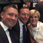 Catching up with @MClarke23 and @TonyAbbottMHR ahead of big match vs @cricketworldcup cohosts #NewZealand http://t.co/pu5WVqmrOo