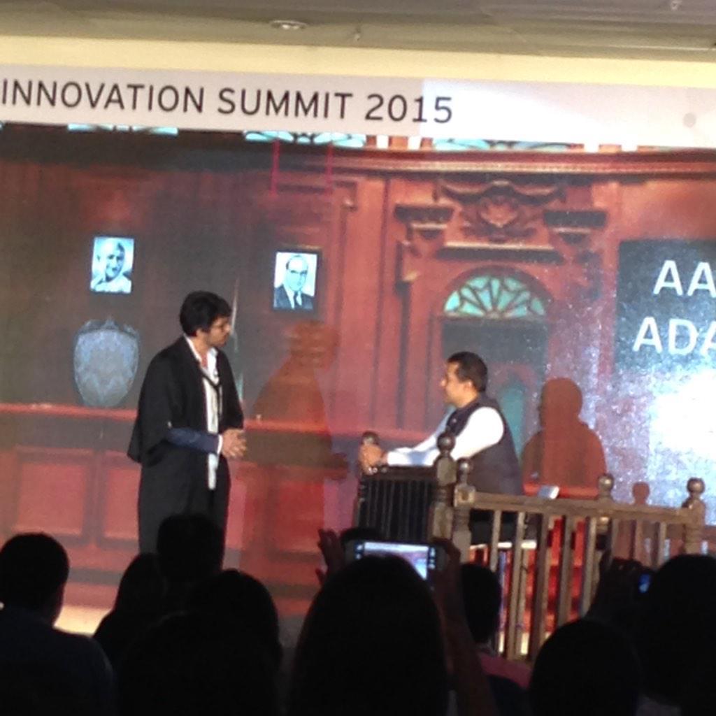 #cis2015 so @chetan_bhagat and @evamkarthik on stage! Fun show http://t.co/dumxgDEGJH