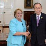 [Fotos] Presidenta Bachelet recibió a altas autoridades de la ONU en La Moneda http://t.co/ZXrRkeMU54 http://t.co/b64vncKs7K