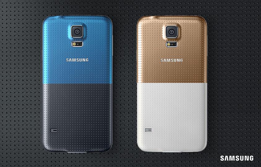 O vestido a gente não sabe. Mas o Galaxy S5 pode ser #DouradoEBranco ou #AzulEPreto. É só escolher. ;) http://t.co/jS7LUDDPwO
