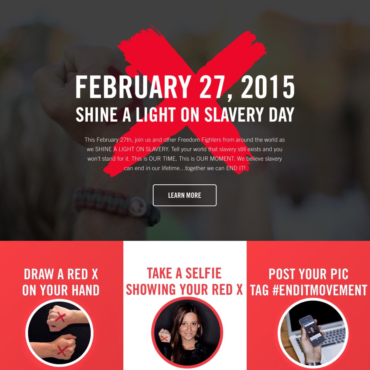 It's Shine A Light On Slavery Day! Let's raise our voice for the voiceless! Together, we can END IT. http://t.co/CO3XMIDz3G
