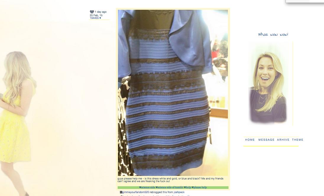 Тест платье какого цвета эксперимент