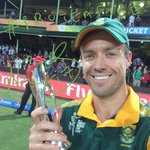 AB De Villiers and his #ProteaFire is of course the Player of the Match! The Best #TwitterMirror of #cwc15 so far? http://t.co/UdruTih4jH