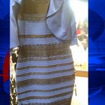What color is this dress? LIKE if you see white&gold, SHARE if you see blue&black. Full story: http://t.co/nTfFqWM8b7 http://t.co/INwhG2Ihdr
