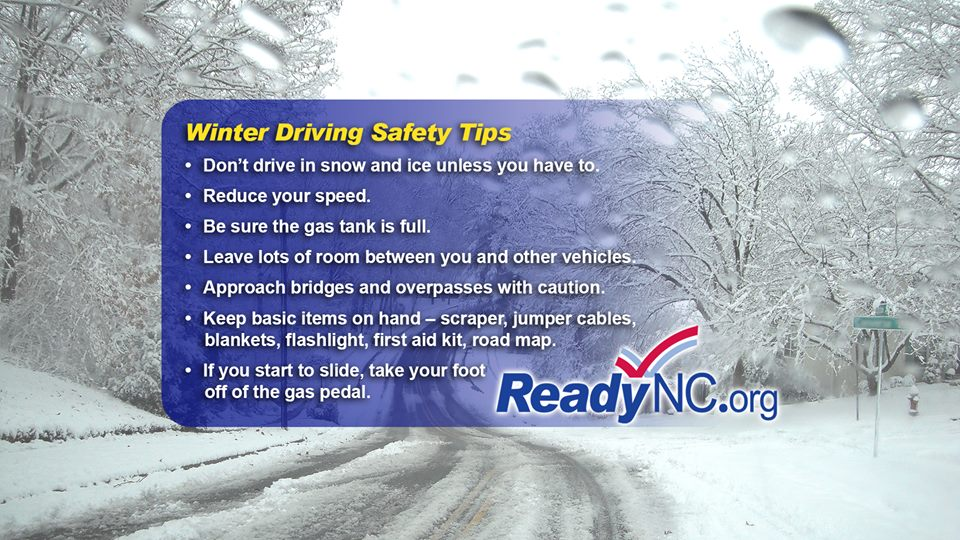 Black ice on roads this AM; if you MUST be on the roads first thing, follow these tips to stay safe y'all!  #ncwx http://t.co/4QC4rhy576