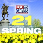 21 days! Thats just 3 weeks! How are you feeling right about now? #FOX25 #spring http://t.co/6mZODRyvmu