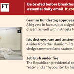 In Friday's #FirstFT , German ja for Greece, what net neutrality will mean and more.Sign up at http://t.co/sIRechhmPJ http://t.co/RhBc7D5lUK