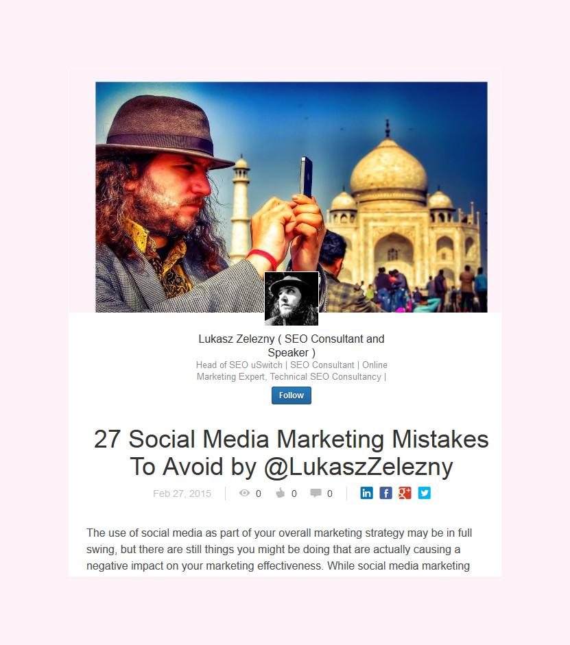 27 Social Media Mistakes by @LukaszZelezny http://t.co/lSneAgUoXc #TheDress http://t.co/DHeAtD3Jof