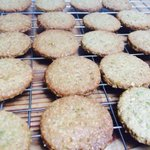 Pistachio digestives to go with cheesecake ice cream & ginger baked Rhubarb #supperclub #brighton http://t.co/N602BxNEWs