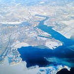 Another amazing shot of wintry Boston from above. (via @2RamSubramanian) http://t.co/7pjSNiBZFJ