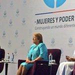 """Presidenta participa de inauguración de Encuentro ONU """"Mujeres y Poder: Construyendo un mundo diferente"""" #WomenStgo http://t.co/fpx1YVtEGC"""
