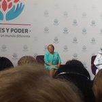 """Inauguración de encuentro ONU Mujeres. """"MUJERES Y PODER"""" Construyendo un mundo mejor. http://t.co/G7rbkLrVoX"""