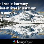 He who lives in harmony with himself lives in harmony with the universe. - Marcus Aurelius https://t.co/C5l03U751Q #quotes