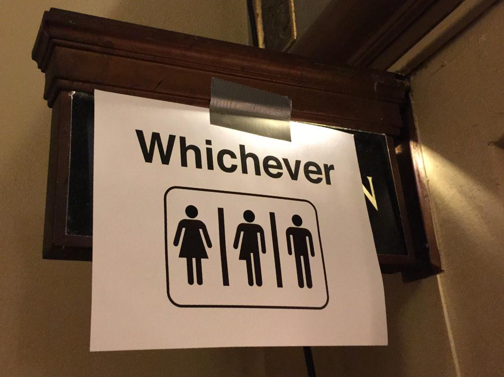Love the gender ambiguous restroom signage at #LWTSUMMIT http://t.co/jDug2KbhwA