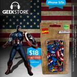 Llegó uno de tus #superhéroes favoritos!! #Case de Capitán América para iPhone 5/5s #guayaquil @GeekStore_ec http://t.co/ymrlVmh2nj