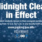 Midnight Clear for snow removal declared for Sunday night for @penn_state University Park: http://t.co/upgHb5mlpw http://t.co/KINzWIz897