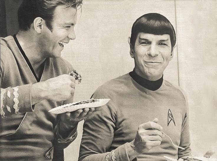 William Shatner and Leonard Nimoy. http://t.co/qMEjk5KJrd