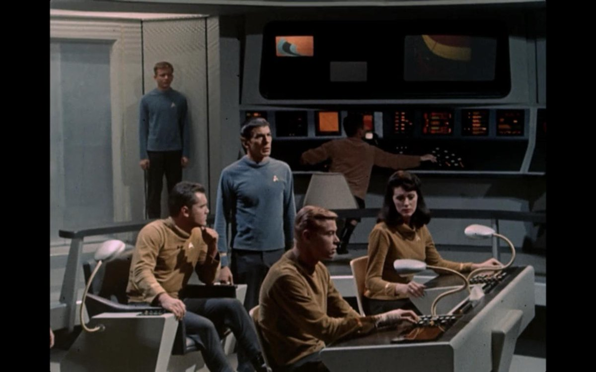 """.@TheRealNimoy spoke the very first line in Ep 1 (The Cage) of #StarTrek: """"Check the Circuit!"""" #LeonardNimoy http://t.co/p9Ky1XRTKV"""