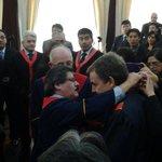 """""""@LaRazon_Bolivia:El expresidente de España Rodríguez Zapatero recibe el título de Doctor Honoris Causa de la UMSA http://t.co/zkIwUAuy9l"""""""