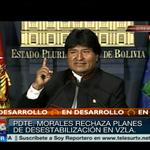 #LAFOTO | Presidente de #Bolivia, Evo Morales rechaza campaña mediática contra #Venezuela http://t.co/TKSa7uGgPG