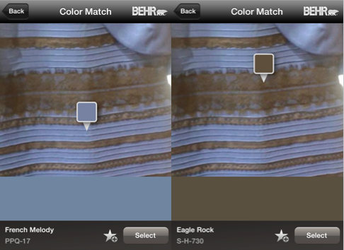 Technically, #thedress is French Melody PPQ-17 & Eagle Rock S-H-730. Check it out on our app! http://t.co/gifE3xp8B8 http://t.co/jUk1JDvxv0