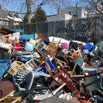 Today City of Somerville at @311Somerville tweeted a pic of all the space savers collected so far....and its a lot! http://t.co/ecSswI4bKE