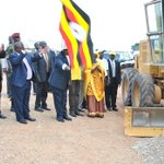 Performing ground breaking ceremony for the construction of Kamwenge - Fort-Portal Road earlier this afternoon. http://t.co/jSxnuaK4sW
