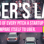 RT @fcollective: Uber's Law: By the end of every pitch a startup will find a way to compare itself to Uber—@Epaley http://t.co/QW9tKDBenV