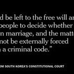 Adultery in South Korea will no longer be punishable by a two-year prison sentence http://t.co/DqazMb6KTF http://t.co/C5gwPOv6U2
