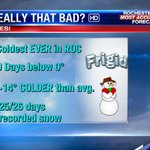 Cmon. Was February really that bad in #ROC? You betcha! Will end up coldest EVER in recorded history. #RecordCold http://t.co/yUgx4S1gd7