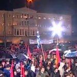 Large turnout at Communist rally outside parliament #Greece http://t.co/pxVB976AO6