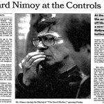 """Remembering Leonard Nimoy: """"Nimoy At The Controls"""" - A 1988 piece on Nimoy's triumphs. http://t.co/u8DFuRS1LM http://t.co/yTuvkXkAvE"""