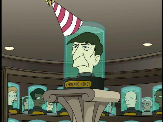 :( RT @gotfuturama RIP @TheRealNimoy, actor, director, poet, singer, photographer, Futurama star from the pilot #LLAP http://t.co/1vMyr4RHHo