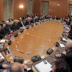 Σε λίγο στο Υπουργικό Συμβουλίο. Παρουσίαση συγκεκριμένων νομοθετικών & πολιτικών πρωτοβουλιών της κυβέρνησης. http://t.co/ZW40AMzKmF