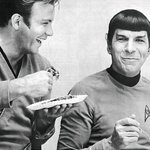 Id rather remember how he lived. So heres Spock and Kirk eating pie. #LLAP http://t.co/BWl9qps8IF
