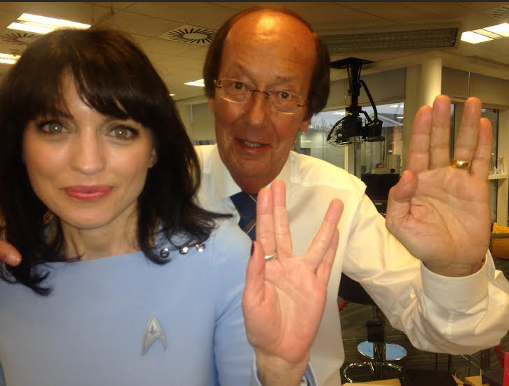 Our own tribute to Leonard Nimoy - lucky I'm wearing my Star Trek outfit! http://t.co/XfcJXOycYn