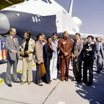 Could there be a better tribute to Leonard Nimoy than this 1976 NASA photo with the Space Shuttle Enterprise? http://t.co/dF5XwdphWU